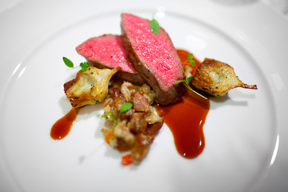 10th Course: Rib-eye of Elysian fields farm lamb