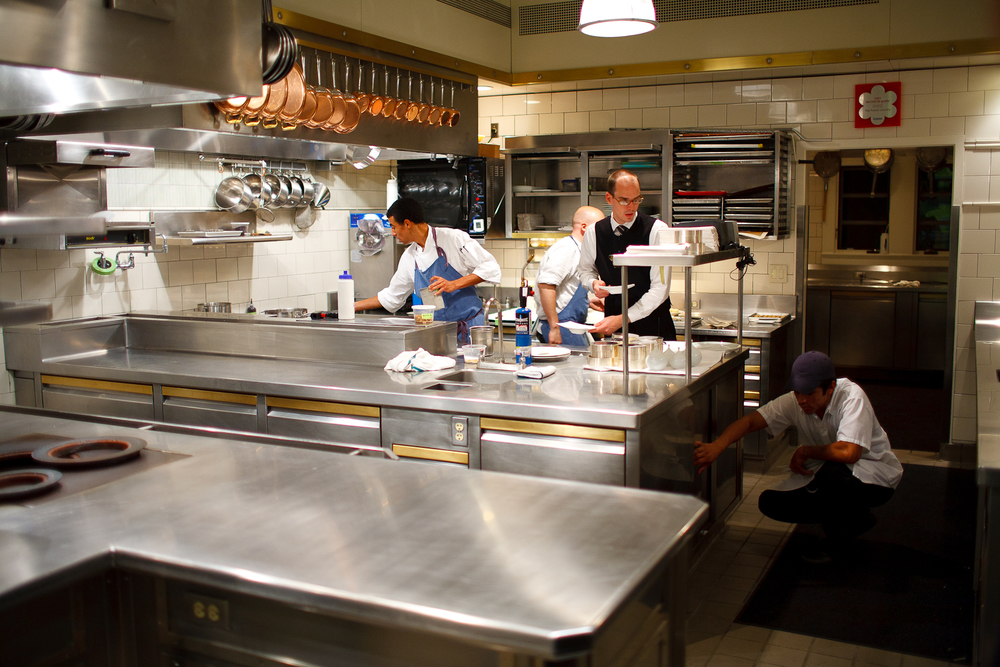 Inside the kitchen of The French Laundry, after hours