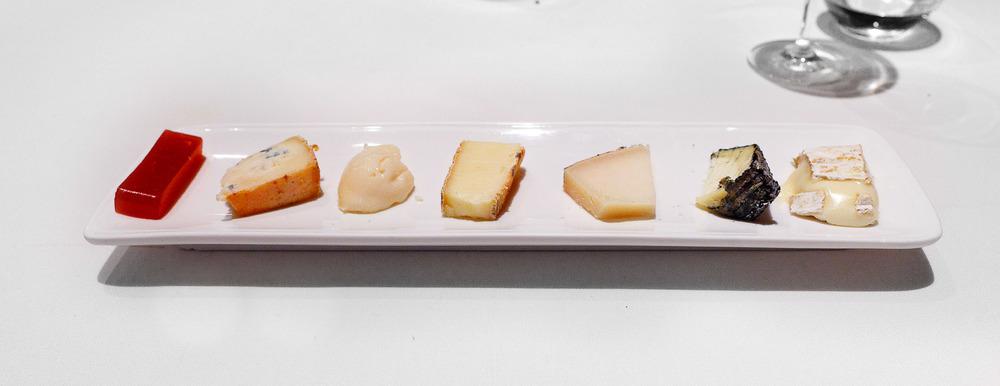Cheese course: Tou de Til.lers, Piramide del Quirol, Cabra de la Garrotxa (Bauma), Taleggio, Torta de la Serena, Blau de l'Avi Ton