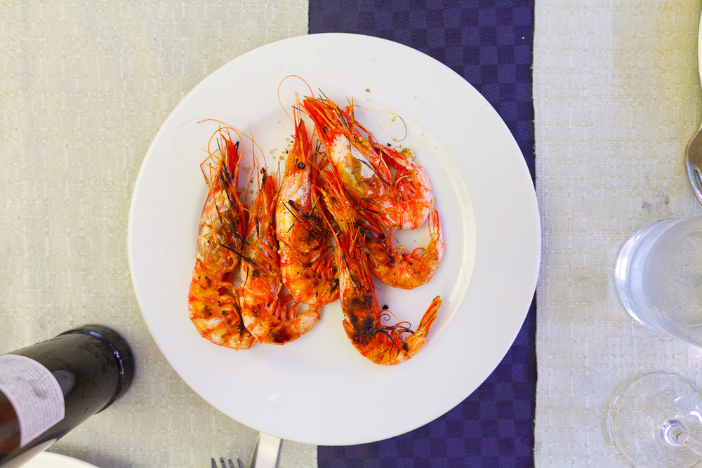Gambas (Local Prawns) a la plancha