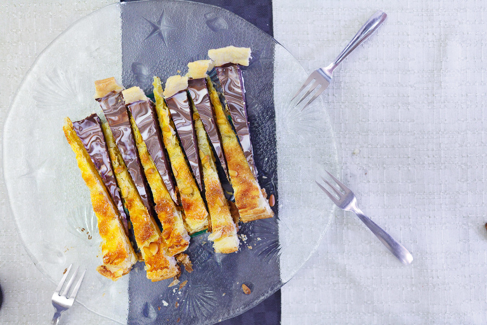Chocolate and Pumpkin Puff Pastry Pie