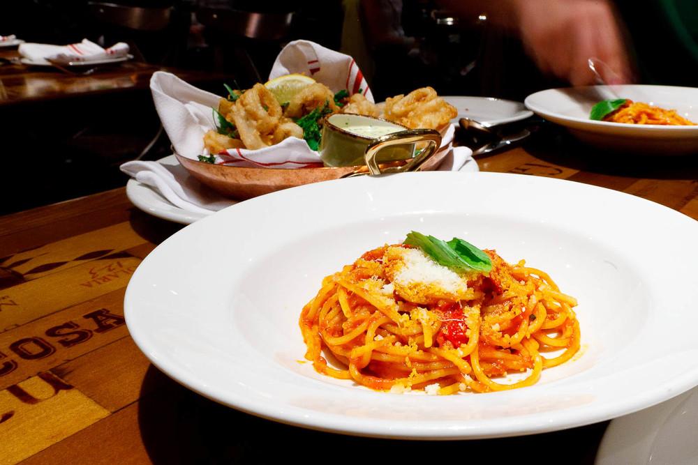 Spaghetti al pomodoro - cherry tomato sauce, basil ($17)