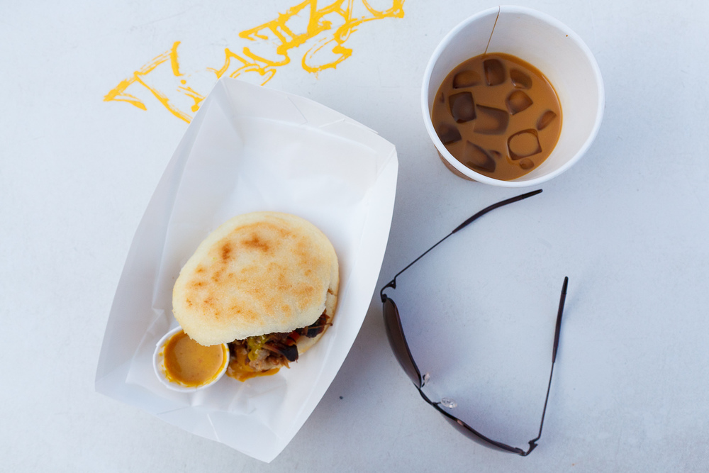 Arepas and Blue Bottle Coffee