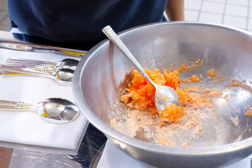Aperol Spritz, liquid nitrogen aperol sorbet, bitter orange