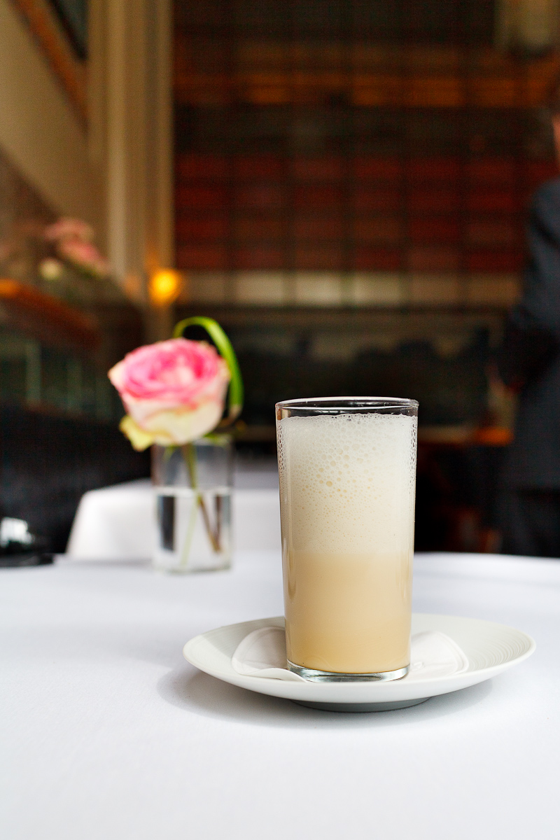 5th Course: Malted egg cream