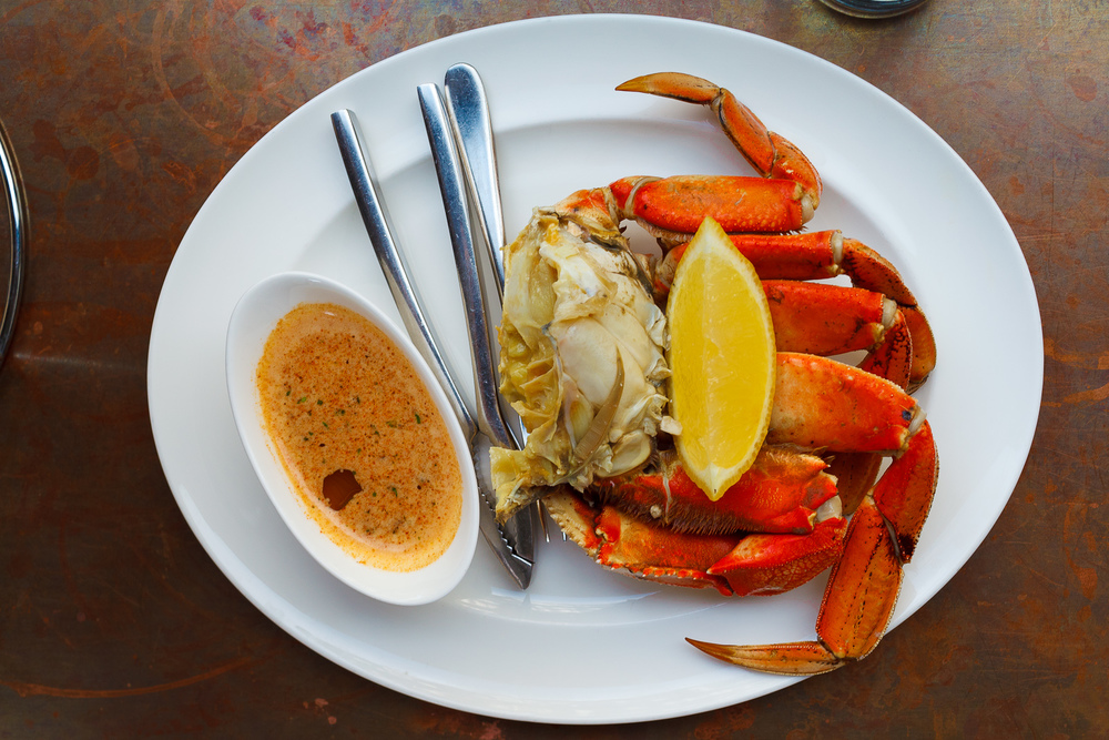 Chilled dungeness crab ($26)