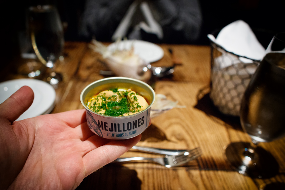 Mejillones enlatados (Canned mussels)