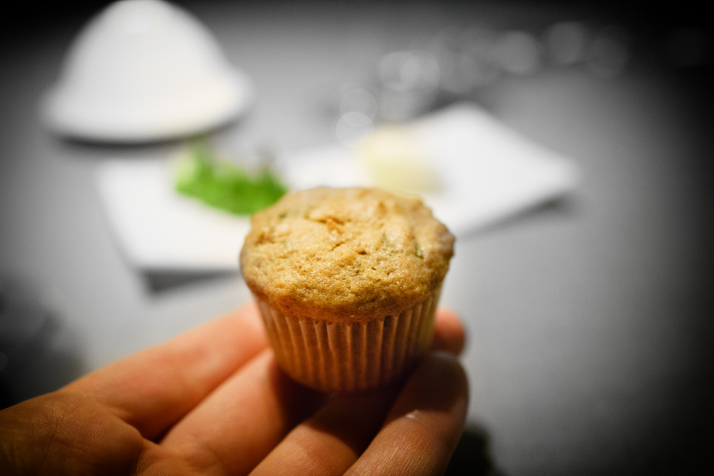 Coconut and lime muffin