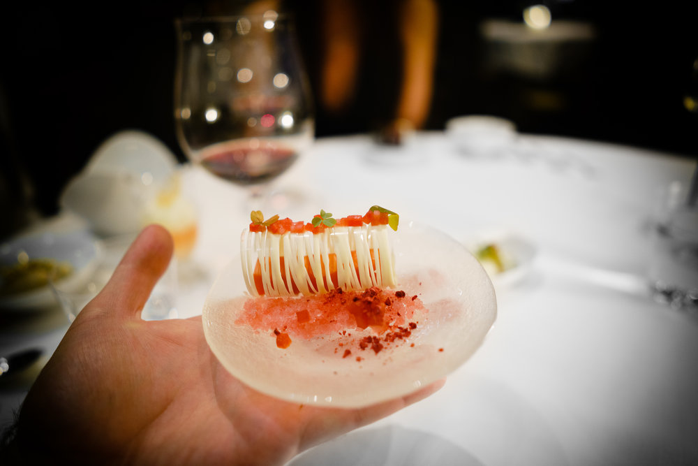 Poached Rhubarb - Greek Yogurt Mousse, Birch Syrup and Petite Sorrel