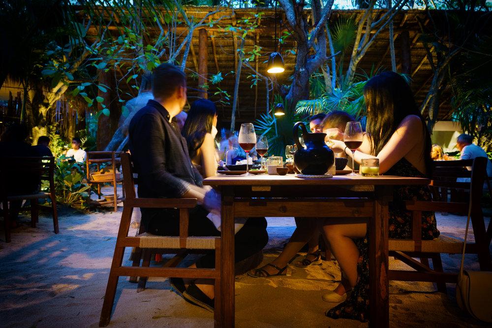 Table at Noma, Mexico