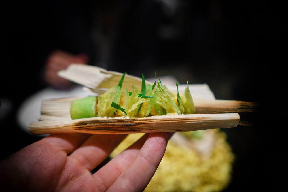 Popcorn: Meyer lemon, fennel, guanciale