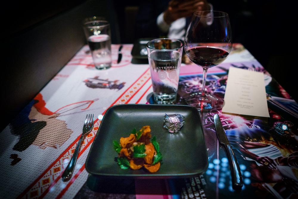 Horror: Smoked Pork Neck, Beet, Garlic