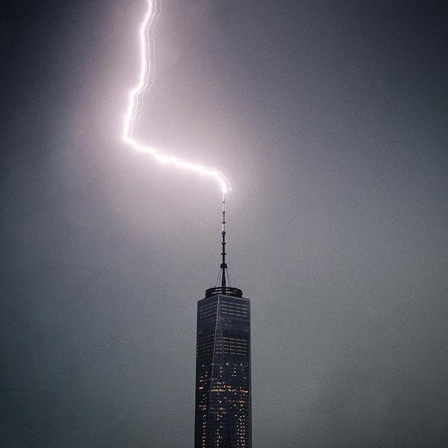 When lightning strikes. #NYC