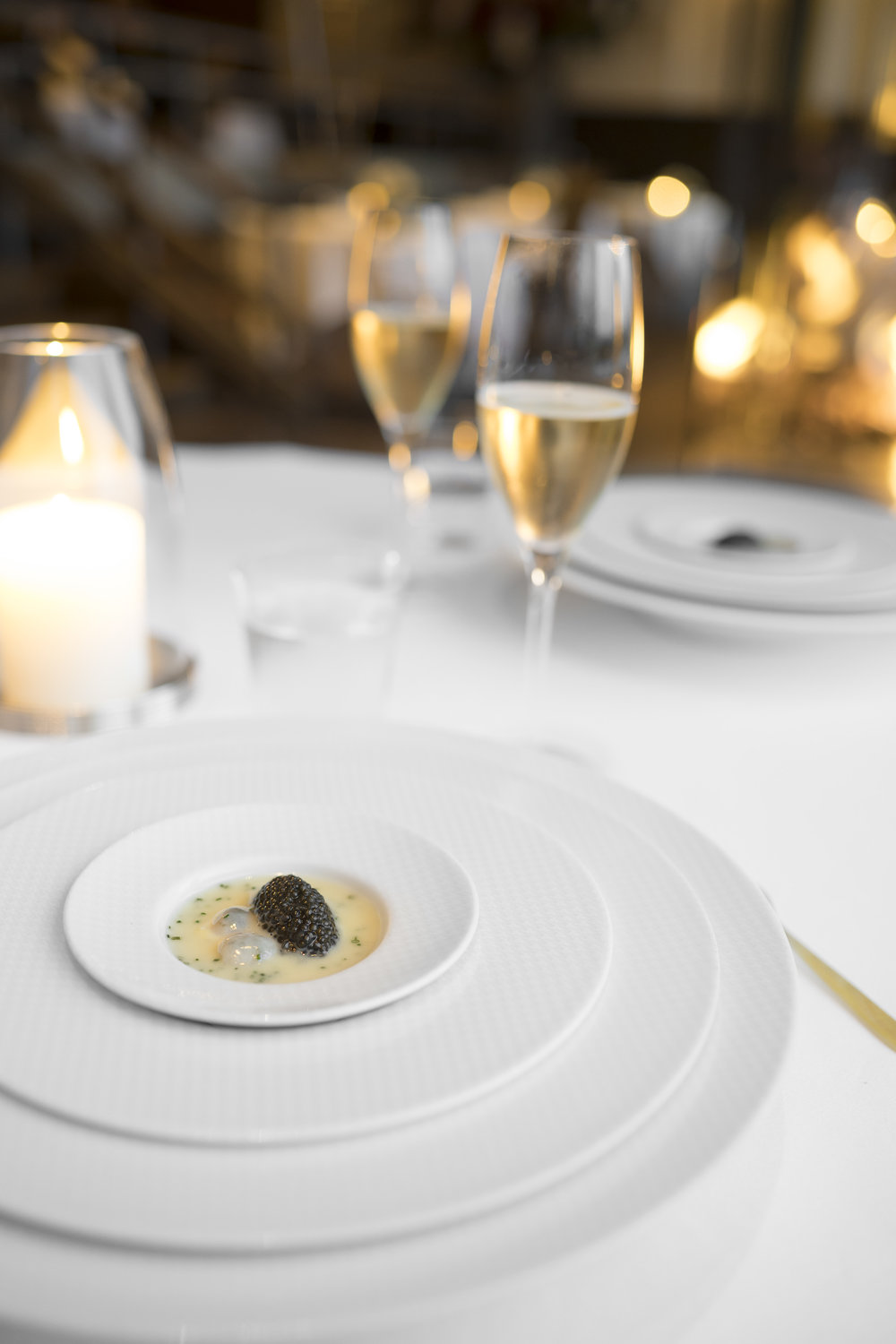 "Oysters and Pearls. ""Sabayon"" of Pearl Tapioca with Island Creek Oysters and Regiis Ova Caviar."