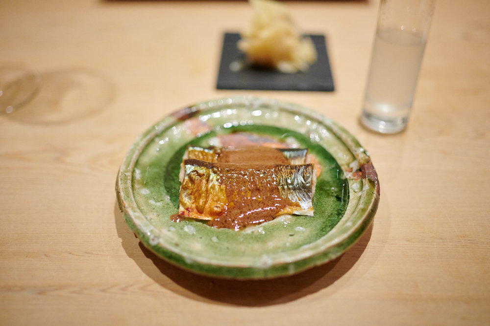 Mackerel in its liver