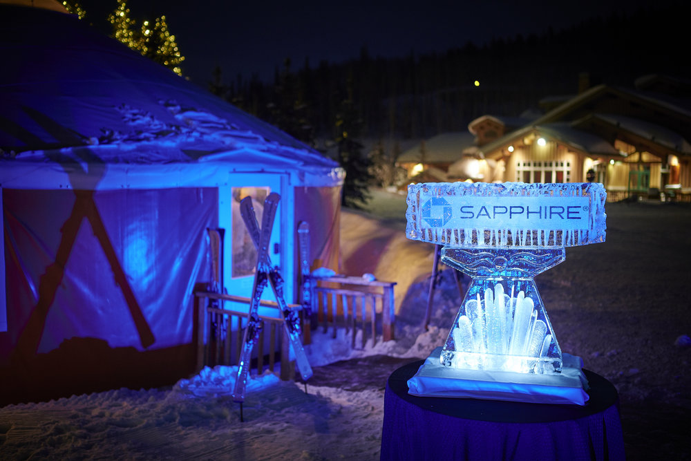 Chase Sapphire Ice Sculpture