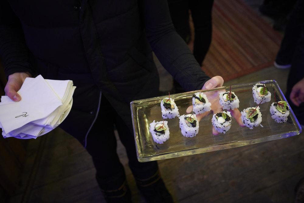 Caviar & Smoked Salmon Sushi