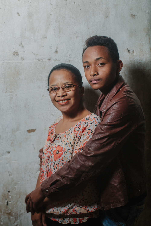 Fita with his mom, Lalaina