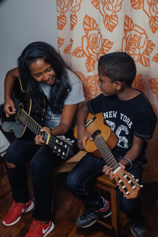 Karen and Kalvin playing some tunes!