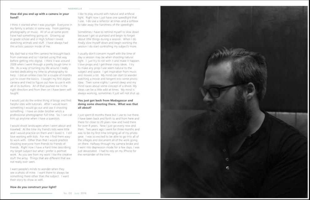 Featured in Fotog Magazine, 2 of 4