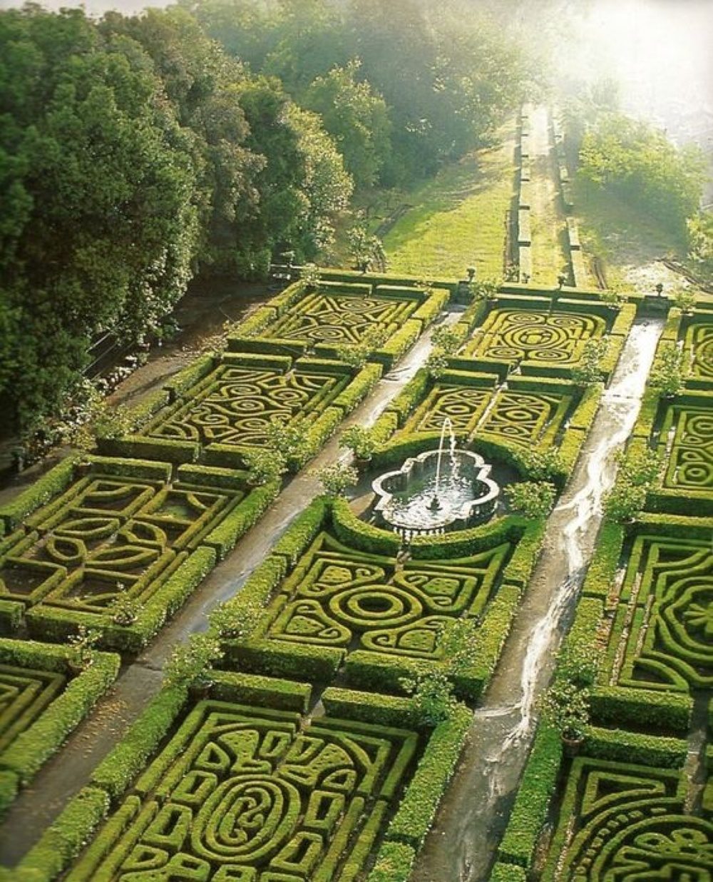 Maze Gardens at Ruspoli Castle, Northern Lazio, Italy