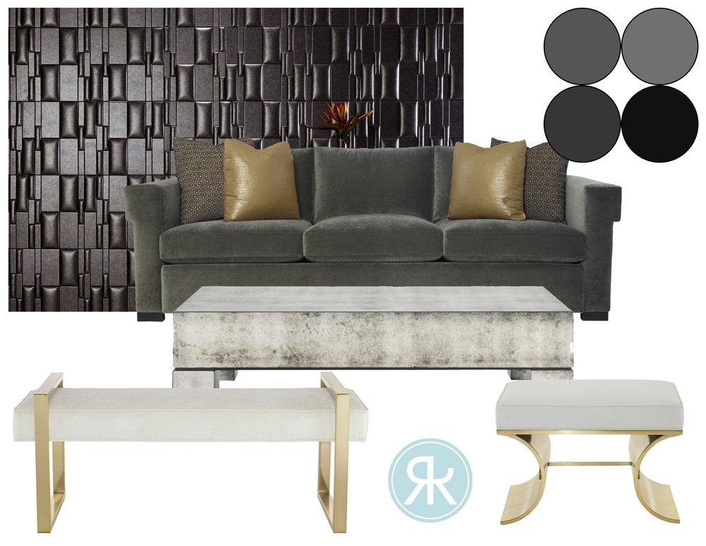 Hotel Lobby Design Concept Board