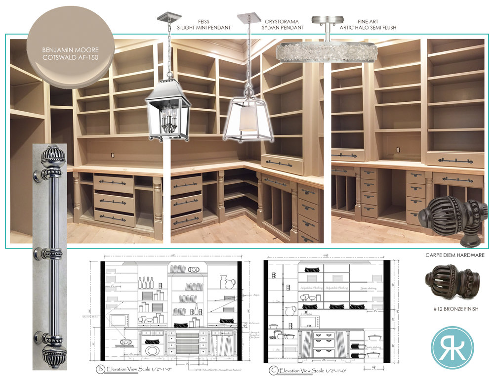 Kitchen Pantry Design Concept Board