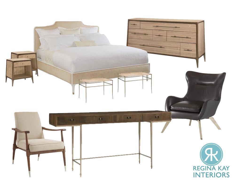 Hotel Bedroom Design Board