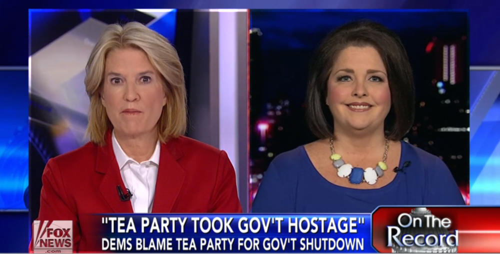 October 1, 2013 - Less than 24 hours after the government shuts down, Amy Kremer joins On The Record with Greta Van Susteren to discuss the tea party taking the brunt of the blame and the potential impact on the 2014 elections.