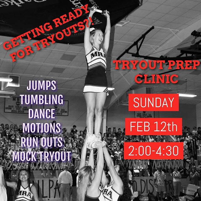 There are a few spots left for the TRYOUT PREP CLINIC this Sunday at CMC Madison! Make sure to save yours today! Email MIGUEL@CMCOACH.COM!