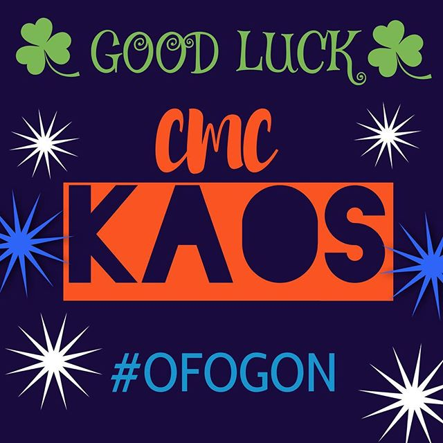 Wishing the best of luck to CMC Kaos as they take on UCA Nationals this weekend in Orlando! #orangenation #CMC #theplacetobe