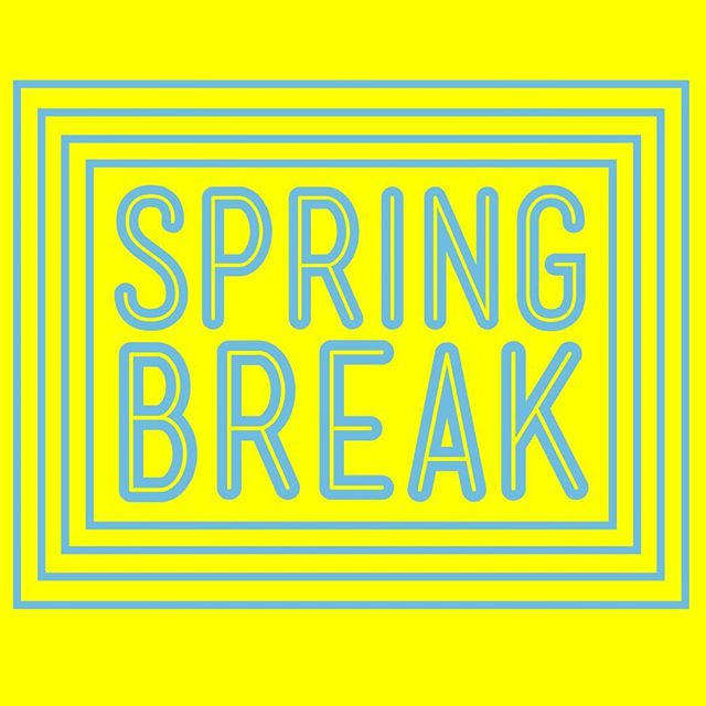 We hope that everyone has a great Spring Break! This is a reminder that CMC will be closed this week! Enjoy your time off and we will see you next week! 💙