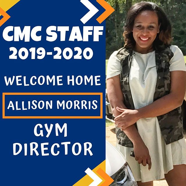 """🌟 BIG NEWS! 🌟 We are SO very excited to announce Allison Morris as CMC's new Gym Director! Allison has over 16 years of cheer and dance experience, from performing, to coaching and judging events. She has coached and choreographed routines for both state and nationally ranked cheer and dance teams across Mississippi, most recently, coaching the Florence Middle School cheerleaders to a 2019 MHSAA State Championship.  Allison is also CMC Alumni – a member of CMC's nationally and world ranked Level 5 Coed team, and went on to cheer at Mississippi College during her undergraduate years, and serving as Student Cheer Coach and Graduate Assistant while pursuing her Master's degree there. She also spent time as UCA Staff, and in 2012, was appointed Regional Ambassador for Cheer for a Cause, a non-profit organization helping cheerleaders facing adversity.  Allison has coached both school and all-star cheer for the past 8 years, returning to coach at CMC from 2012-2014, and most recently serving as Owner and Artistic Director of Dance Unlimited in Florence, MS (formerly of Byram, MS), and head coach of Prestige All-Stars and Prestige Performance Company for the past 5 years. """"For me, CMC has always been home – a safe space. This very gym was a place that I not only gained skills that would make me a better athlete, but life skills that contributed to who I am today. The opportunity to carry on this 20 year legacy is a dream come true. I'm excited for #SEA20N – growing the CMC family, incorporating new programs, but most importantly, continuing what has always made CMC the place to be."""" – Allison"""