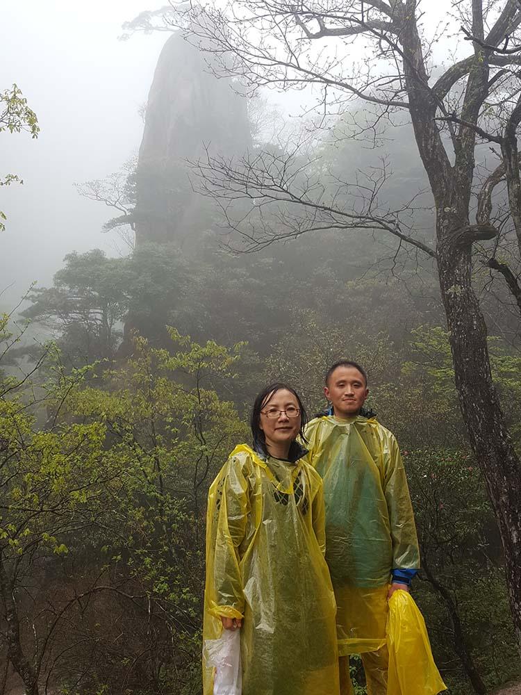 Gisela Jia with Xiao Jing at Yellow Mountain.