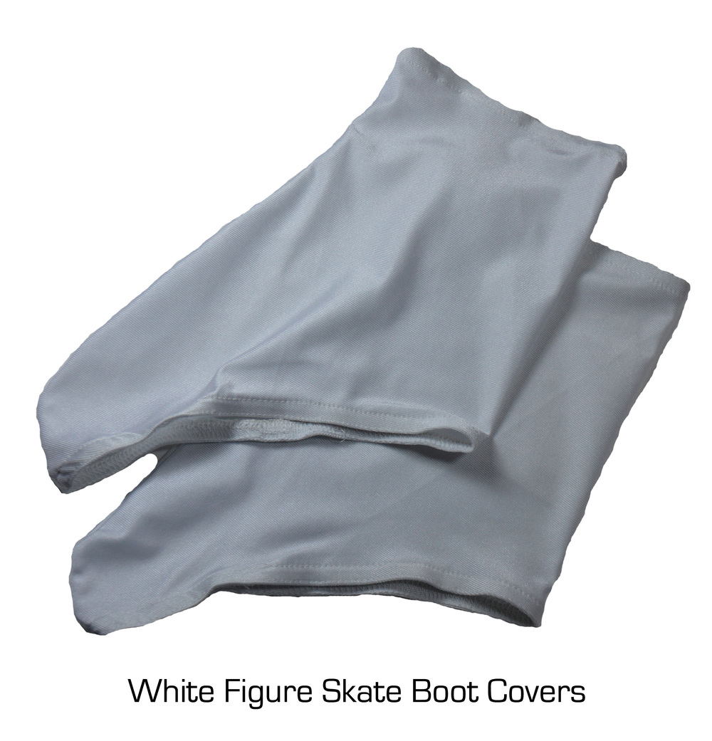 White Figure Skate Boot Covers