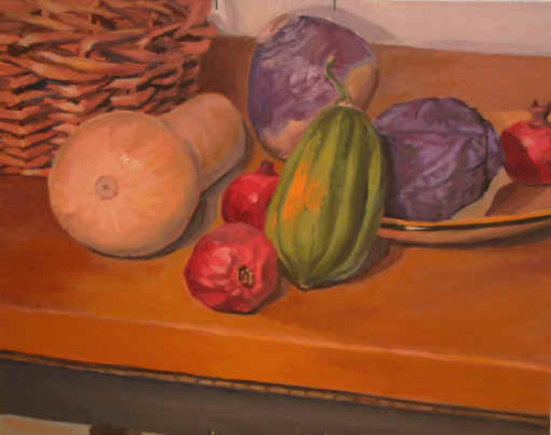 Vegetables with Basket