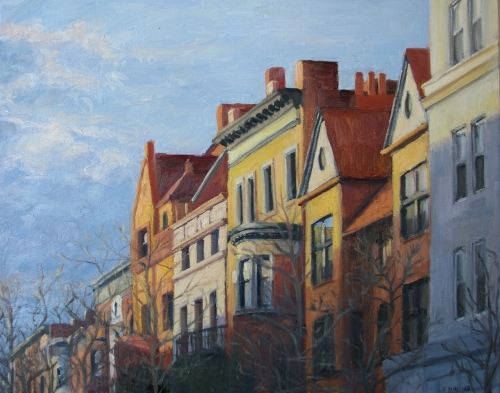 Early Evening on Garfield Place, 2008