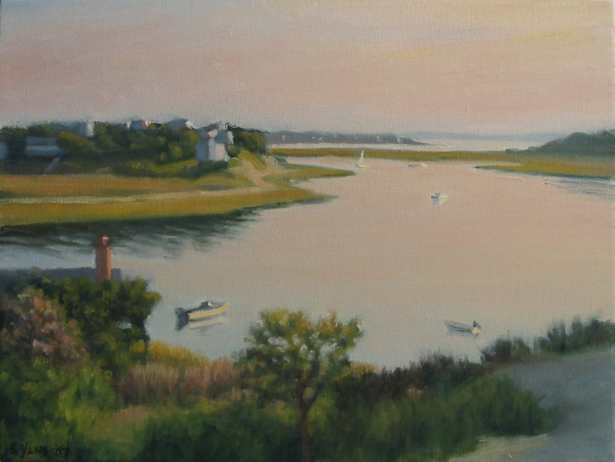 pink-afternoon-over-wellfleet-harbor-2007