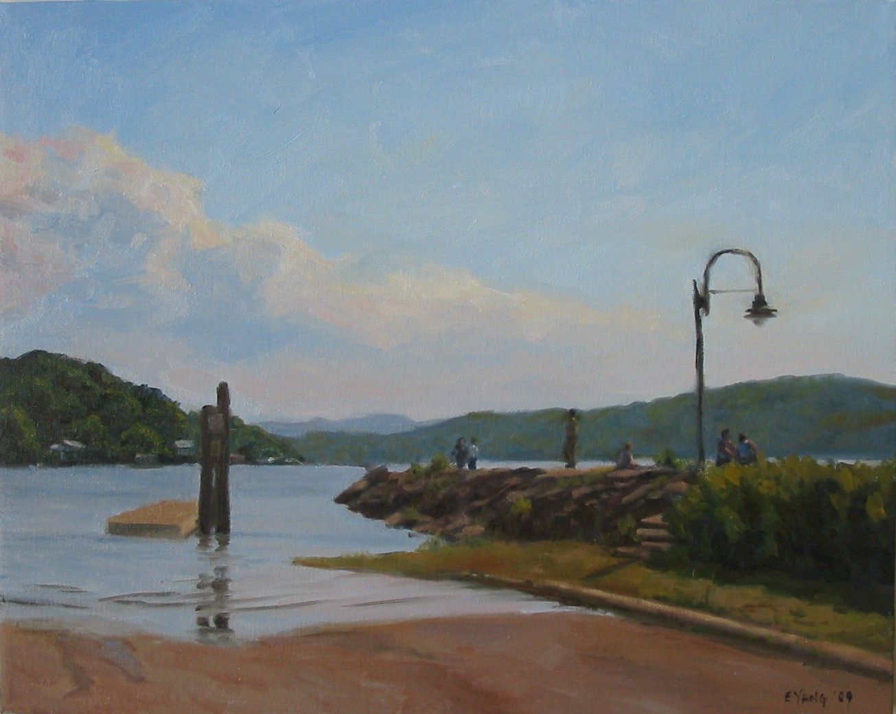 "Peekskill Landing, 16""x20"" oil on canvas"
