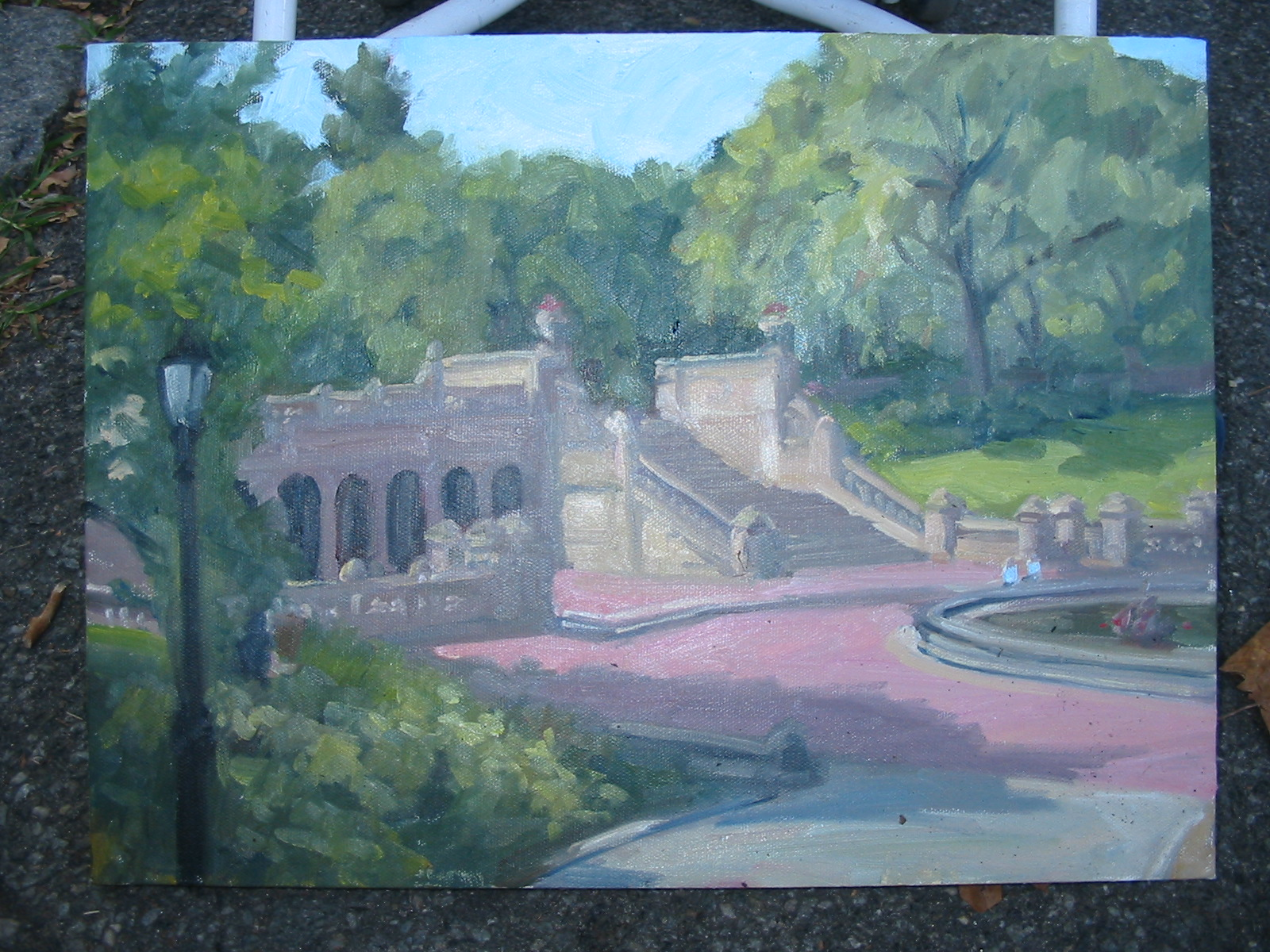 Morning at Bethesda Terrace, Central Park