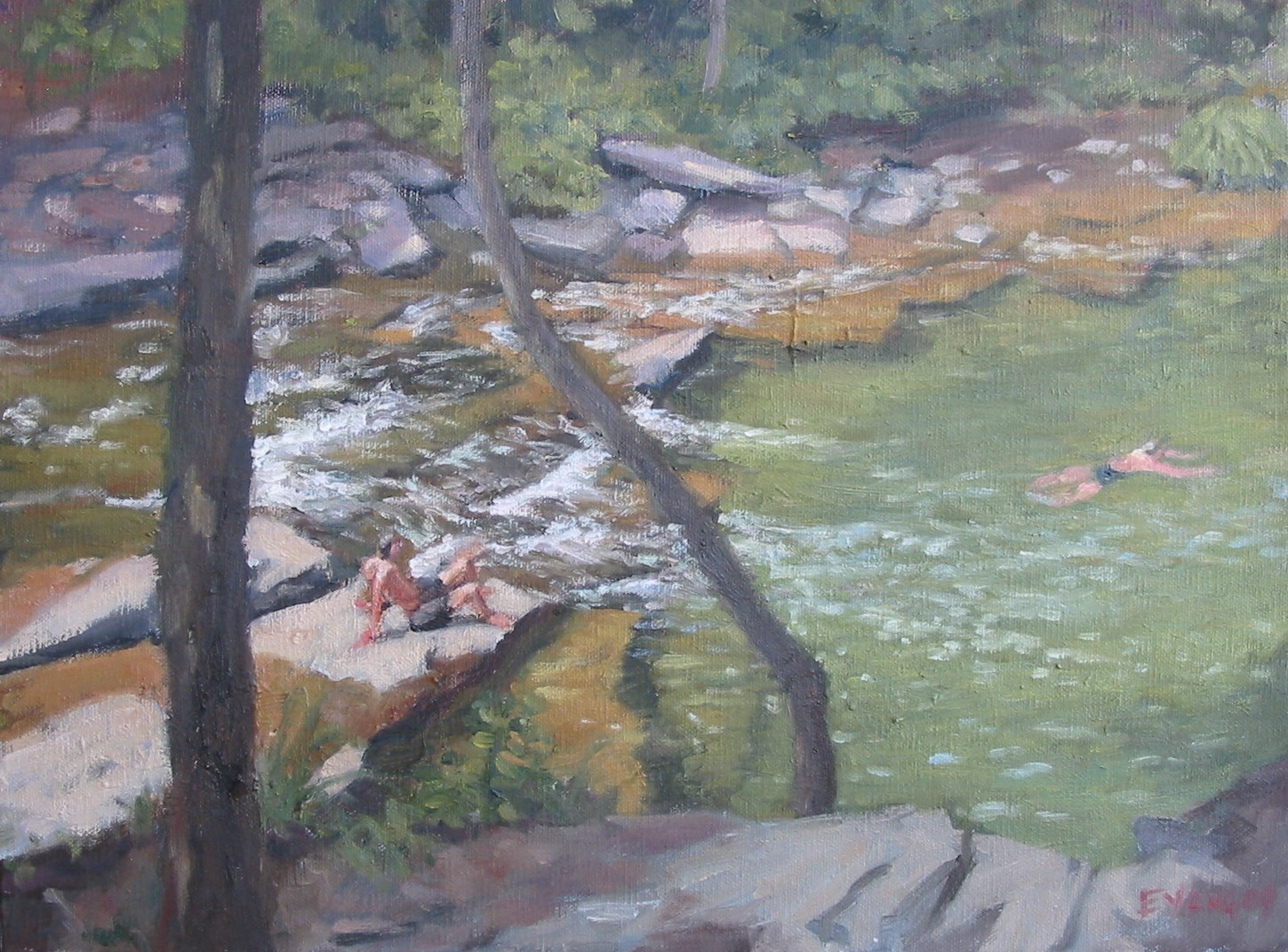 Swimming Hole, oil on canvas, 12 x 16 inches