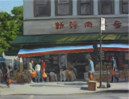 "Chinatown Market , oil on canvas, 12""x16"", 2016"