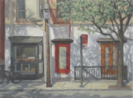 """Red Door, oil on canvas, 12""""x16"""", $990"""