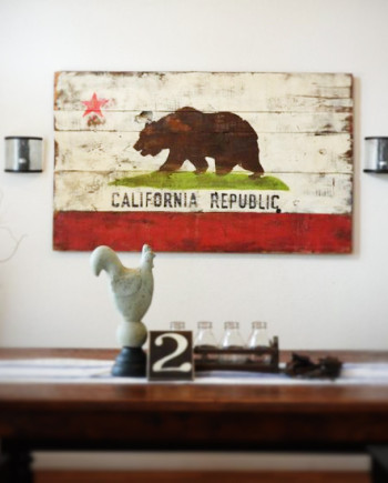 California Republic Bear Sign in various sizes, prices range from $30-140.