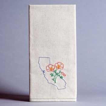 California State Poppy Tea Towel from Eko Kreations, available in-store for $24.