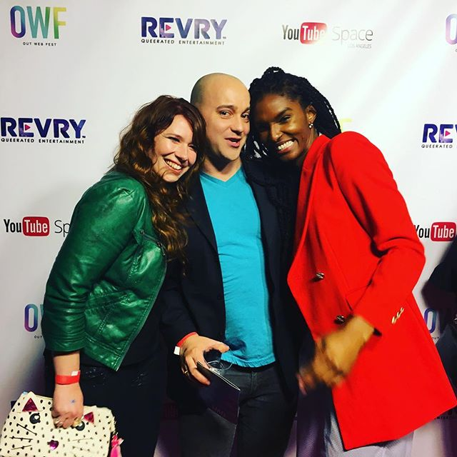 #redcarpet #youtubespacela #unsurepositive @c__paine and @itsarifitz come guest on our web series-- we'll fly ya out ;)