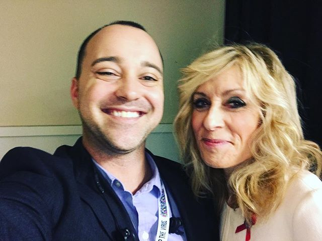 @judithlight thanks for stopping to say hi! And for supporting the cause, the HIV movement loves you! @dannypintauro I get it now 😘 #2017USCA #2017USCAsmf #webseries #socialjustice