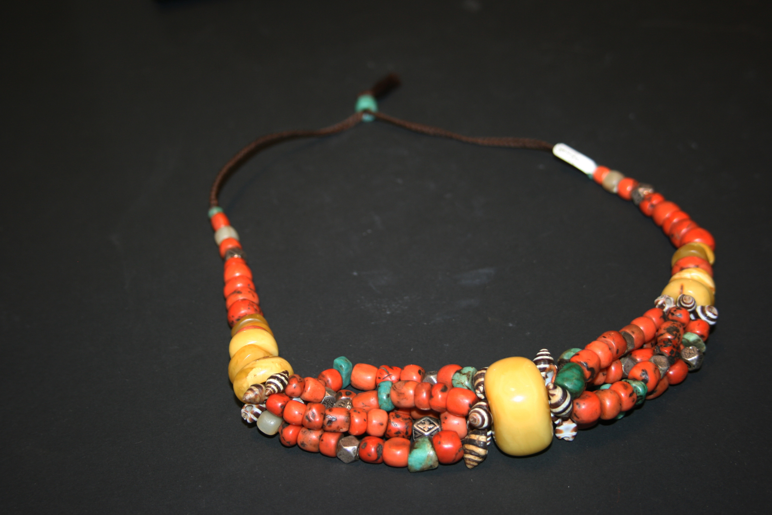berber necklace with lakahina img african beads product