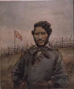 Painting of HēnareWiremu Taratoa 1864by Robley of Ngaiterangi Rangatira.Taratoa drafted theOrder of conduct forthe Battle ofPukahinahina (GatePā) and Te Ranga.
