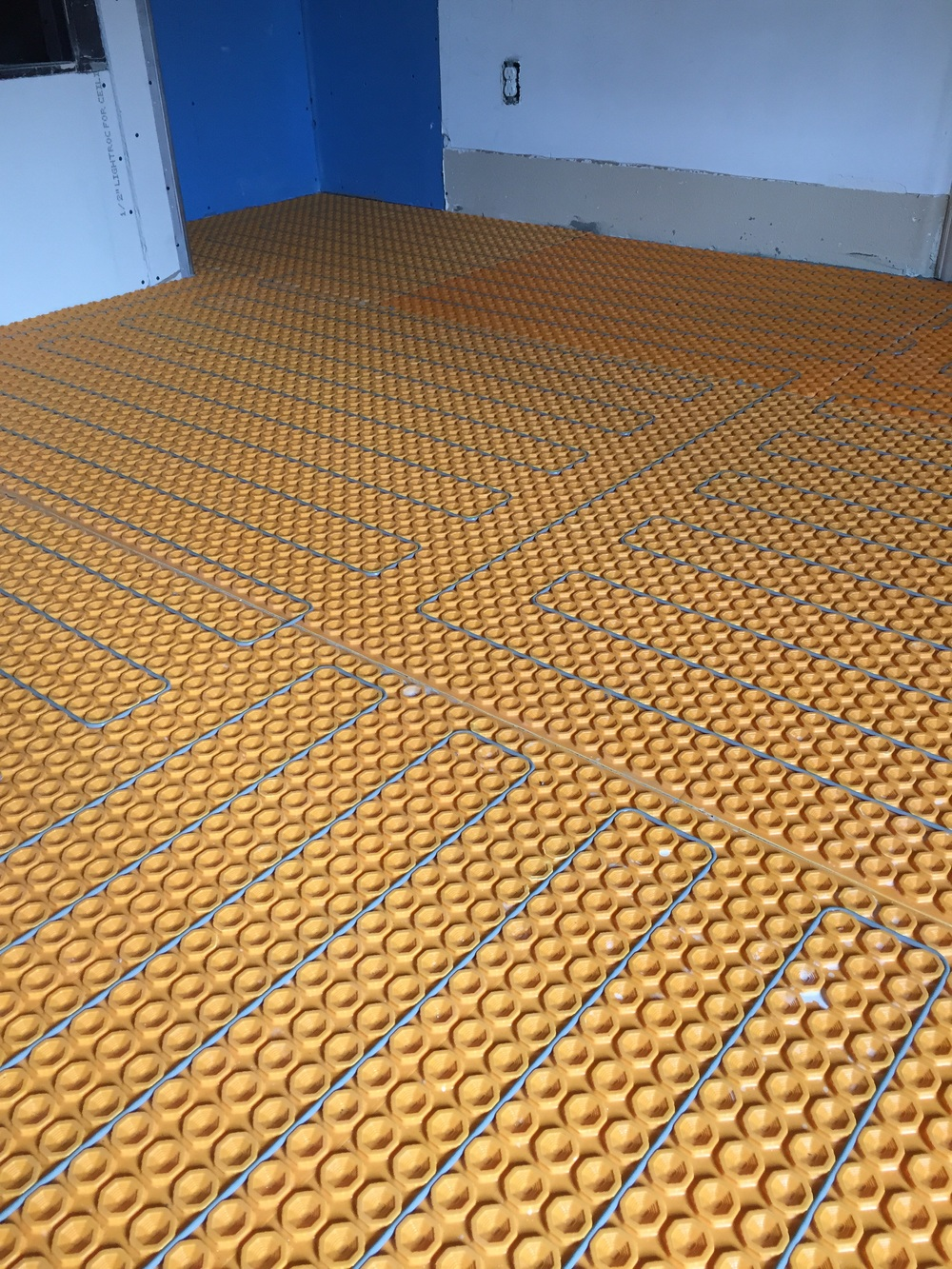 The Schluter Dietra System Is A Mat And Wire System. First The Mat Is Laid,  And Then The Wires Are Placed At Specific Intervals For The Areas That  Heating ...